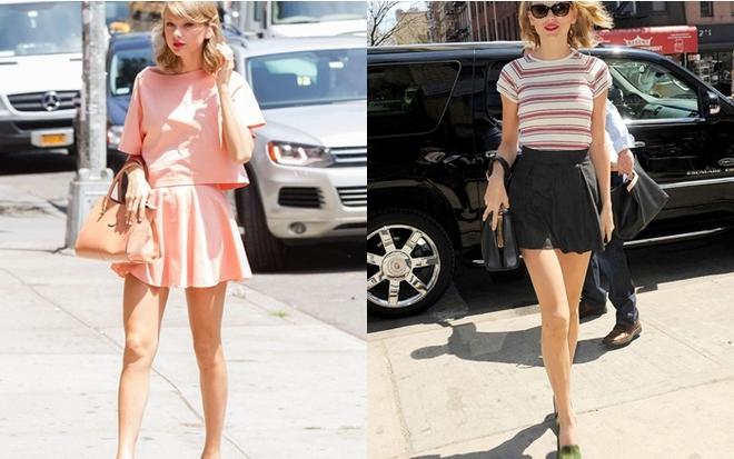 Mini skirt cũng là một item thường xuyên được Taylor lựa chọn.