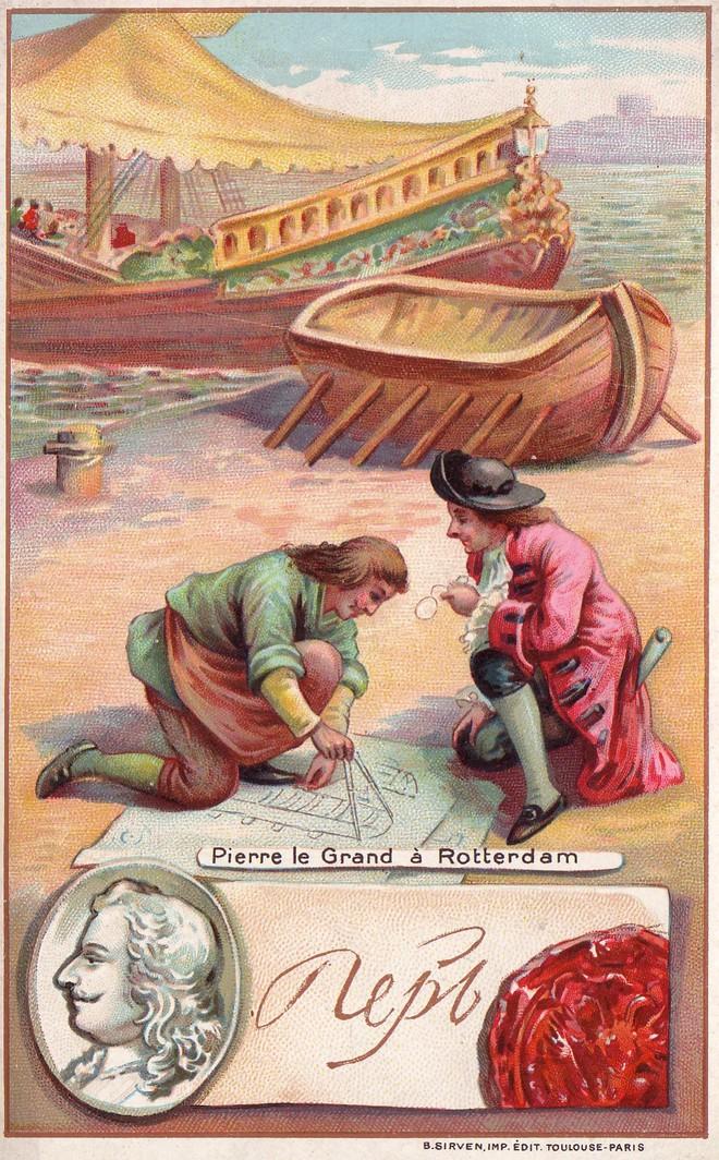 Ông học hỏi kinh nghiệm đóng thuyền và đưa về nước. Ảnh Internet..