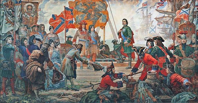 Pyotr Đại đế xây dựng hải quân Nga đầu tiên. Ảnh Internet..