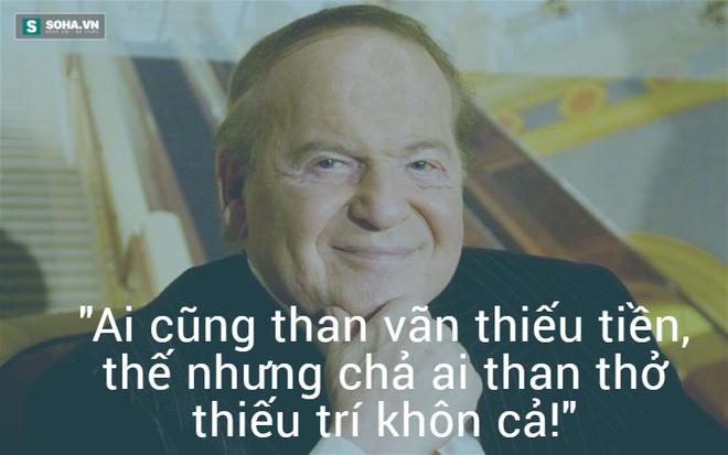 Nhân vật trong hình: Sheldon Adelson, ông chủ của tập đoàn Las Vegas Sands, một tỷ phú người Mỹ gốc Do Thái.