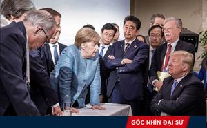 Bất đồng tại G7, ông Trump gượng gạo giải hòa với bà Merkel bằng... kẹo dẻo - ảnh 1