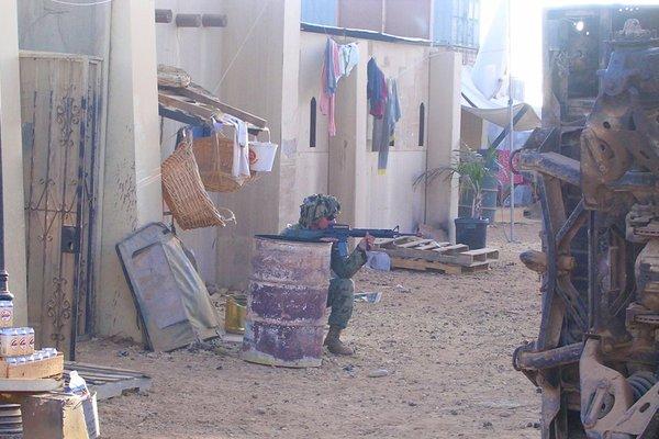 Một địa điểm có môi trường giống các ngôi làng ở Afghanistan hay Iraq.