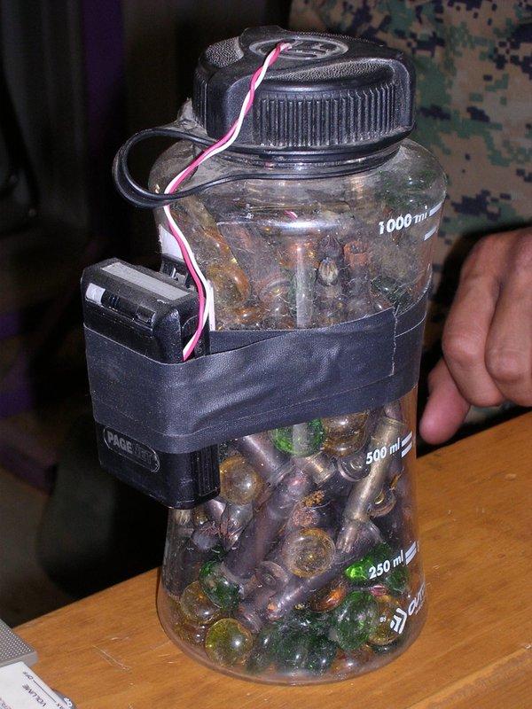 Một mẫu bom tự chế.