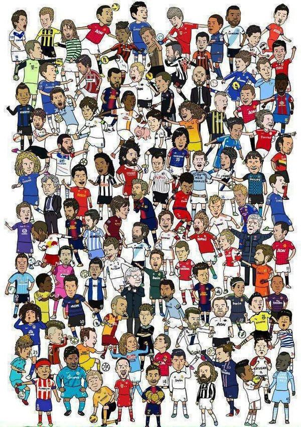 Ai có thể nhận diện hết số cầu thủ nói trên nào?