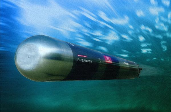 Ngư lôi chống ngầm/chống tàu mặt nước hạng nặng Spearfish có tầm bắn tới 54km, tốc độ bơi 150km/h. Ngư lôi có thể điều khiển qua dây dẫn hoặc dùng đầu tự dẫn định vị thủy âm chủ động.