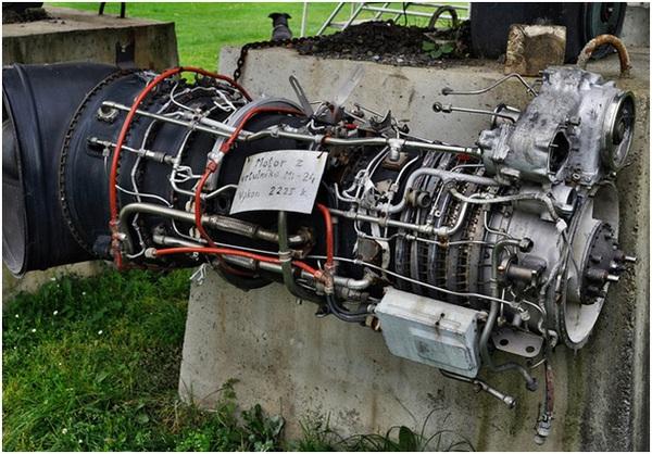 Động cơ turbine của Mi-24.