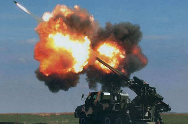 Pháo tự hành SH-1 thiết kế dùng khung gầm xe vận tải bánh lốp. SH-1 trang bị pháo cỡ nòng 155mm có khả năng bắn loại đạn tăng tầm đạt cự ly xa tới 53km. Ảnh minh họa
