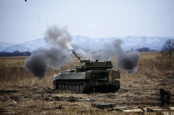 Gvozdika thiết kế đặt trên khung gầm cơ sở xe bọc thép MT-LB, trang bị pháo 2A18 cỡ 122mm có tầm bắn xa 15,3km. Ảnh minh họa