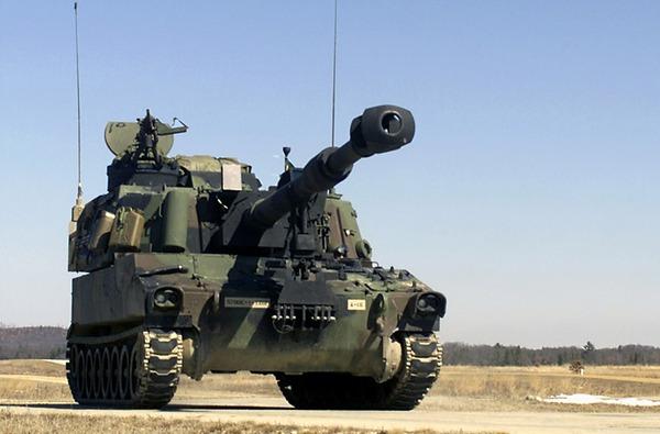 Pháo tự hành M109A5 (Mỹ sản xuất) trang bị chủ yếu trong pháo binh Quân đội Hoàng gia Thái Lan (20 khẩu). Ảnh minh họa