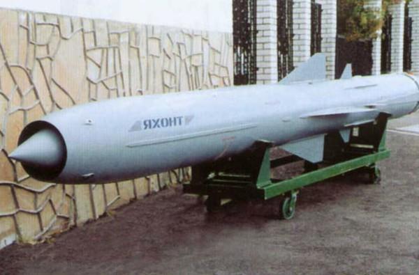 Tên lửa hành trình chống tàu P-35 đạt tầm bắn tới gần 500km, lắp đầu đạn nặng tới 1 tấn. Ảnh minh họa