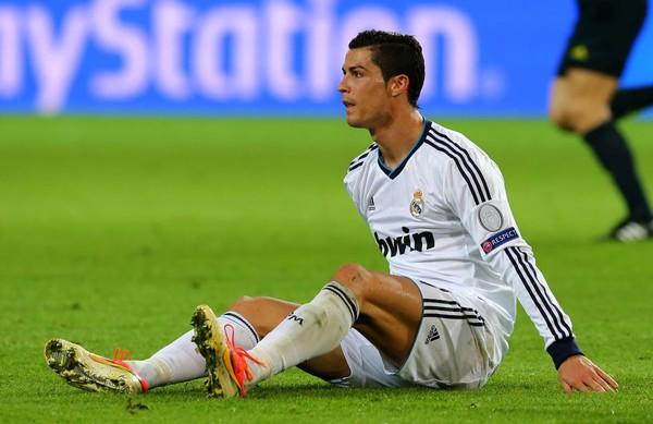 Cris Ronaldo đã dính chấn thương ngay trước trận đấu với Dortmund