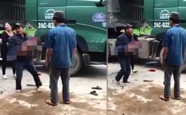 Yên Bái: Bố đau đớn ôm thi thể con trai bị xe tải cán tử vong