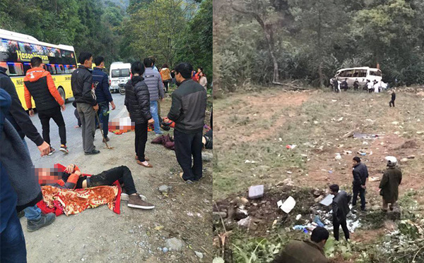 Toàn cảnh vụ xe khách Sapa - Lào Cai rơi xuống vực