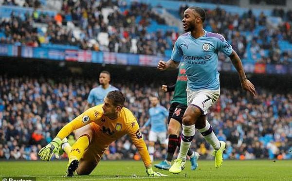 'Hủy diệt' Aston Villa trong hiệp 2, Man City áp sát Liverpool
