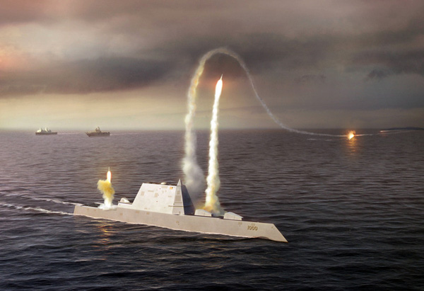 DDG-1000 được trang bị các hệ thống vũ khí có thể thực hiện đồng thời nhiều nhiệm vụ cùng lúc, toàn bộ hệ thống vũ khí đều được bố trí bên trong thân tàu dựa trên cơ cấu phóng thẳng đứng. Điều này giúp giảm diện tích boong tàu vừa phát huy khả năng bao quát mục tiêu 360 độ.