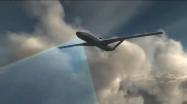 Trong tình huống chiến tranh giả định, máy bay không người lái Predator C Avenger của Mỹ đã được trang bị vũ khí laser (các Predator C Avenger hiện tại chưa được trang bị vũ khí laser), bom bán kính nhỏ SDB được dẫn đường bằng vệ tinh và hệ thống cảm biến điện tử hiện đại.
