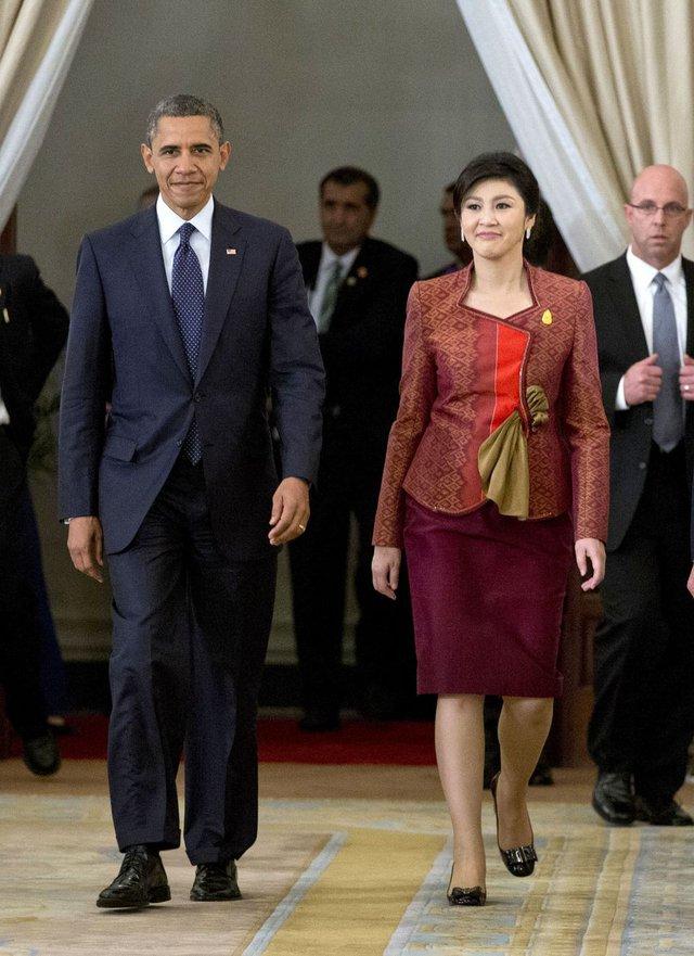 Trong cuộc gặp gỡ với tổng thống Mỹ Obama.