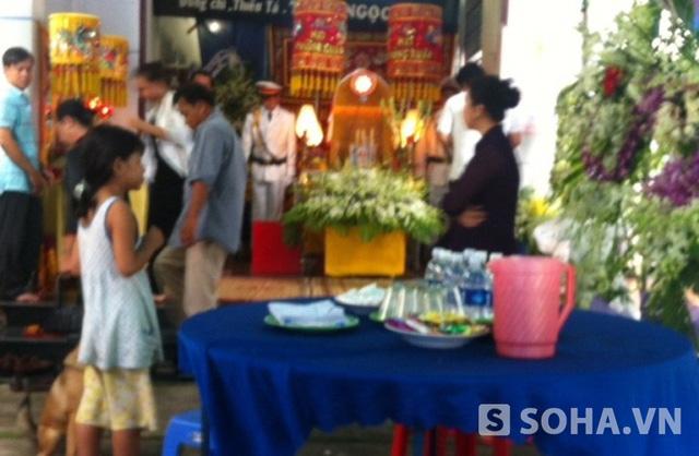 Đám tang Thiếu tá Trần Ngọc Sơn được tổ chức tại nhà riêng ở TP Biên Hòa, tỉnh Đồng Nai.