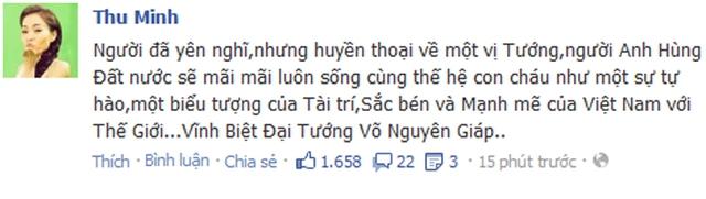 Ca sĩ Thu Minh: