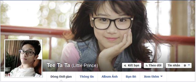Facebook anh chàng Tee Ta Ta với ảnh bìa là Hoàng Yến.
