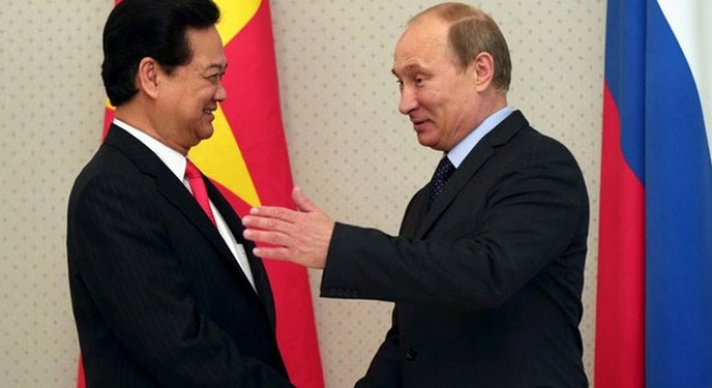 Tổng thống Putin trong cuộc gặp với Thủ tướng Nguyễn Tấn Dũng.