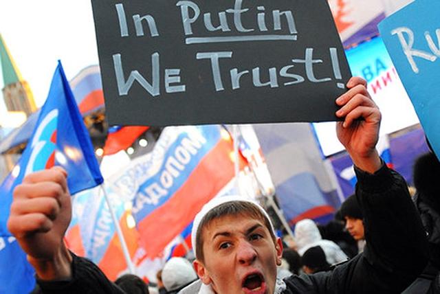 Người Nga tuần hành biểu lộ sự ủng hộ đối với Putin