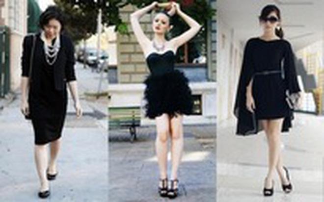 Phối đồ dự tiệc nổi bật, sang trọng cùng váy đen huyền ảo