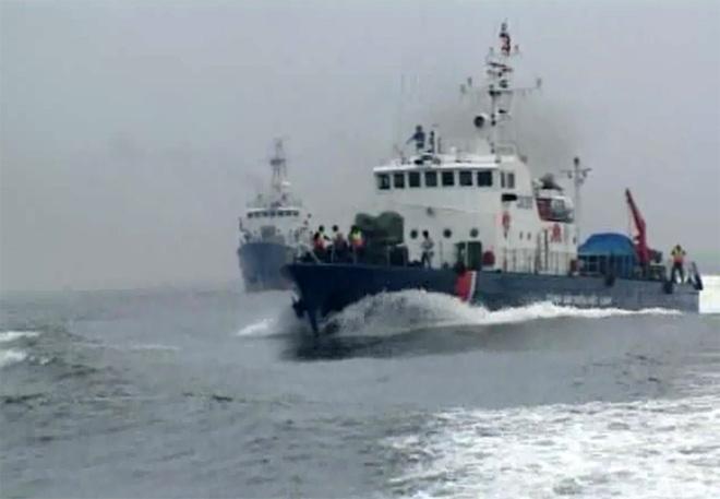 Cảnh sát biển Việt Nam thử 3 tàu mới giữa siêu bão