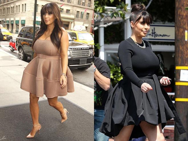 Bà bầu Kim Kardashian bị chỉ trích vì mặc đồ bó sát và đi giày cao