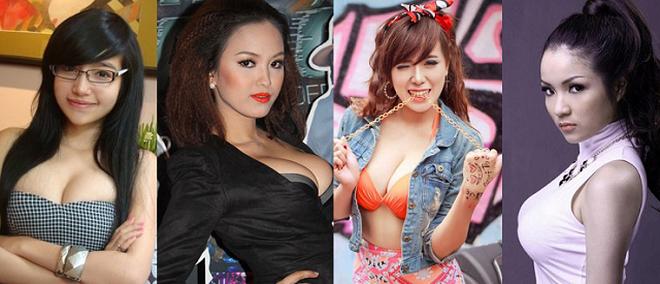 4 hot girl Việt mệnh danh 'siêu vòng 1'