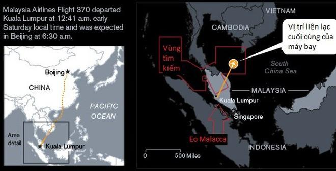 Lần ra dấu vết máy bay mất tích ở eo biển Malacca