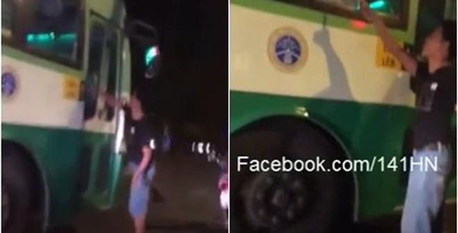 Thanh niên đập vỡ kính xe buýt, phụ xe cầm phớ đuổi chém