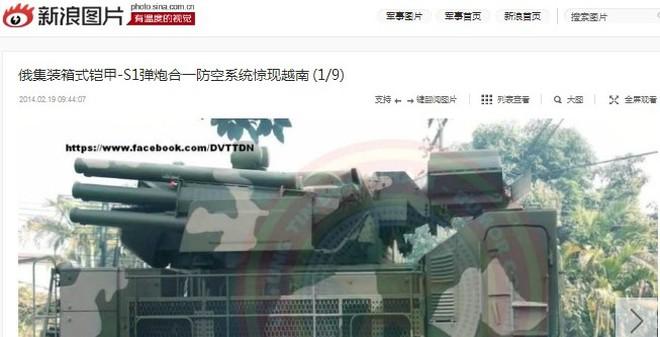 """Tìm gốc tích bức ảnh """"Pantsir-S1 của Việt Nam"""" trên báo TQ"""