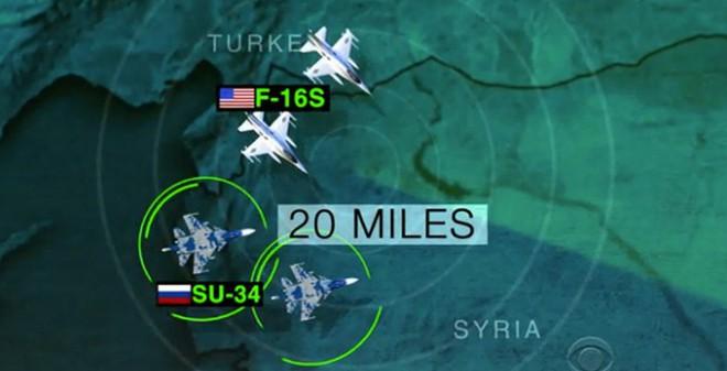 Syria: Mỹ tung hình ảnh cảnh báo nguy cơ đụng độ chiến đấu cơ Nga