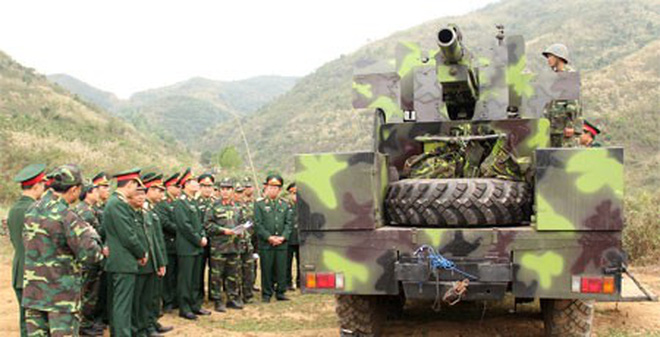 Bắn thực nghiệm tổ hợp pháo tự hành 105mm