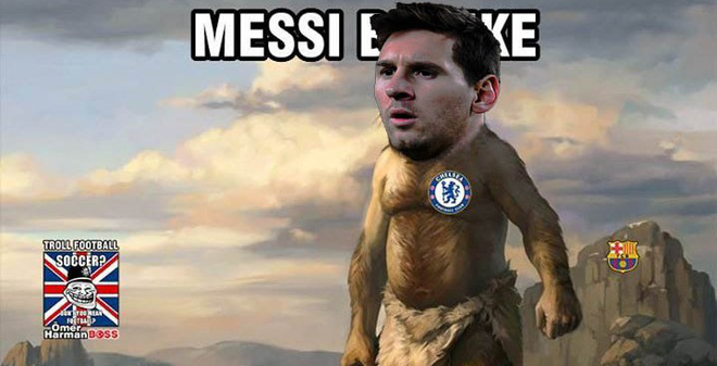 """Ảnh vui: Messi hết thời """"ăn lông ở lỗ"""""""