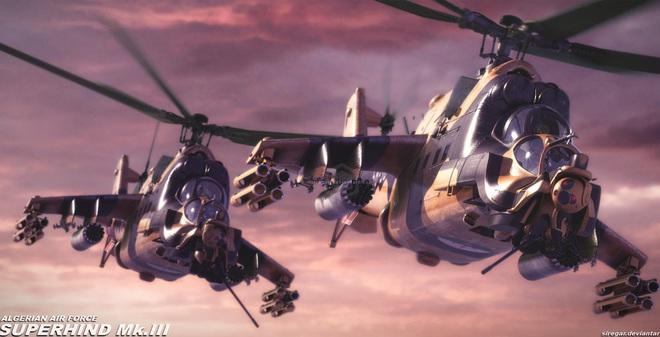"""Super Hind Mk III - """"Cá sấu Nga"""" đến từ châu Phi"""
