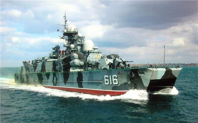 Tàu đệm khí mang tên lửa diệt hạm cực mạnh của Hải quân Nga