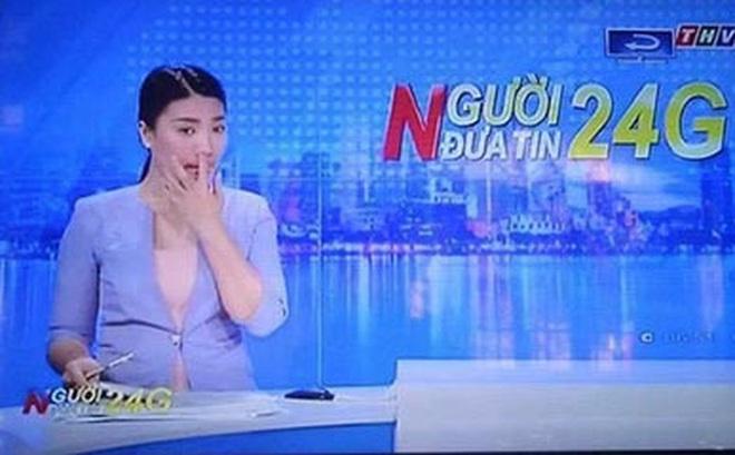 Nữ MC truyền hình Vĩnh Long có hành động gây tranh luận