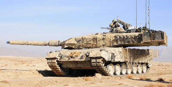 """Sức mạnh xe tăng """"Báo sa mạc"""" hàng đầu thế giới của Đức"""