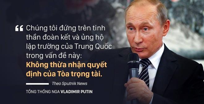 Putin: Nga ủng hộ Trung Quốc không thừa nhận phán quyết của PCA