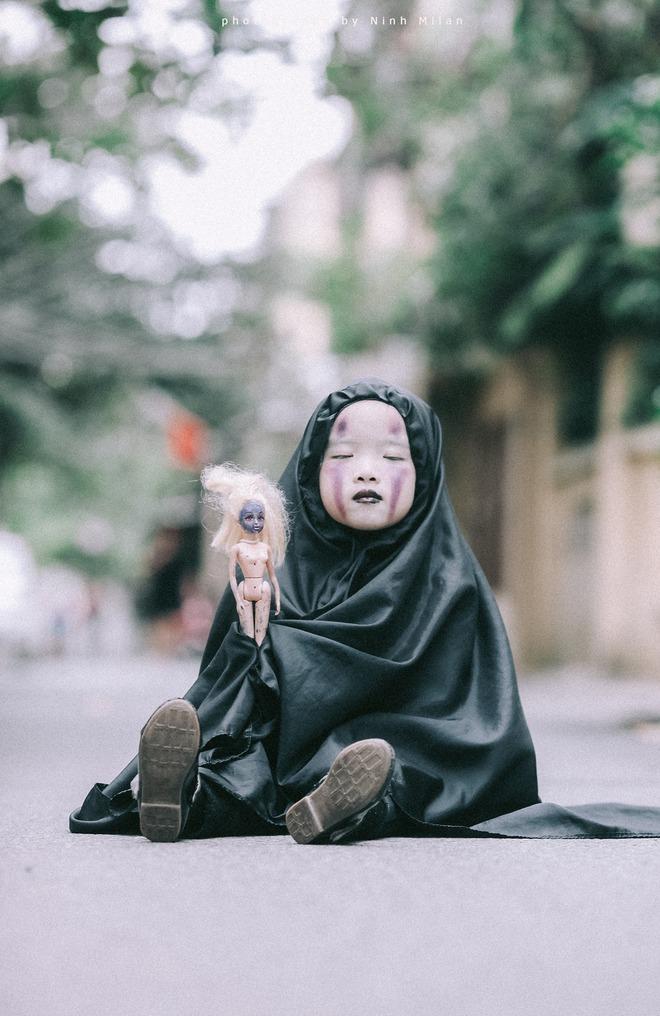 Cô bé Vô Diện phiên bản Việt dễ thương khiến dân mạng rần rần chia sẻ - Ảnh 10.