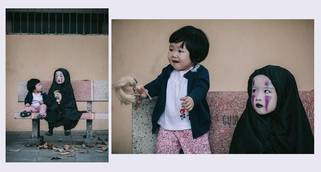 Cô bé Vô Diện phiên bản Việt dễ thương khiến dân mạng rần rần chia sẻ - Ảnh 2.