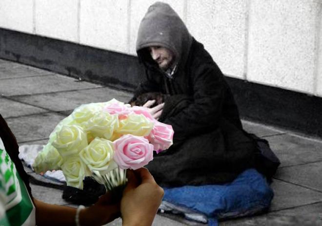 1560409ea58292 img 1475942058436 Chuyện người ăn xin không ngờ trở thành ông chủ vì một bông hoa hồng