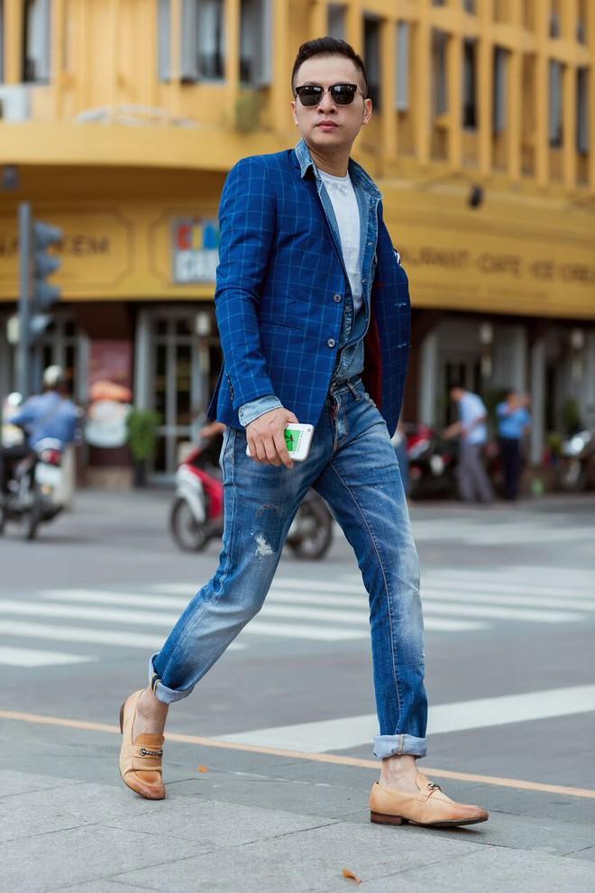 Fashionisto Nguyễn Minh Khoa sành điệu xuống phố - Ảnh 6.