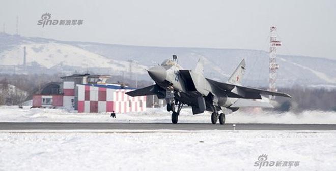 Tiêm kích MiG-31 Nga bảo vệ vùng Viễn Đông