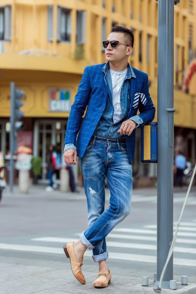 Fashionisto Nguyễn Minh Khoa sành điệu xuống phố - Ảnh 5.