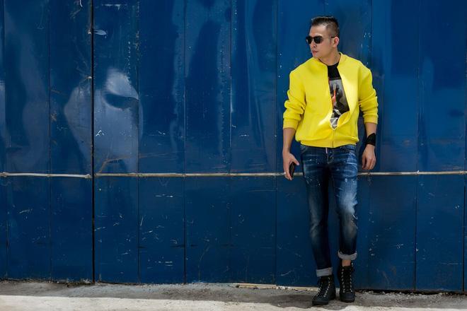 Fashionisto Nguyễn Minh Khoa sành điệu xuống phố - Ảnh 9.