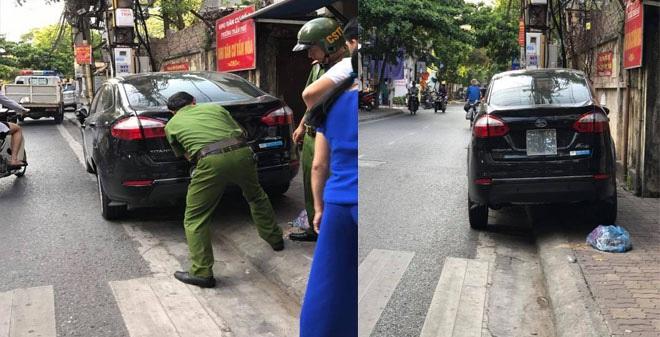 Cảnh sát trật tự có quyền tháo biển kiểm soát xe ô tô vi phạm?