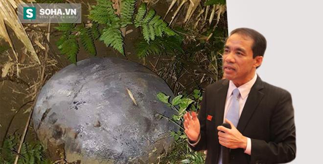 Vật thể vừa rơi ở Tuyên Quang giống bộ phận của khinh khí cầu